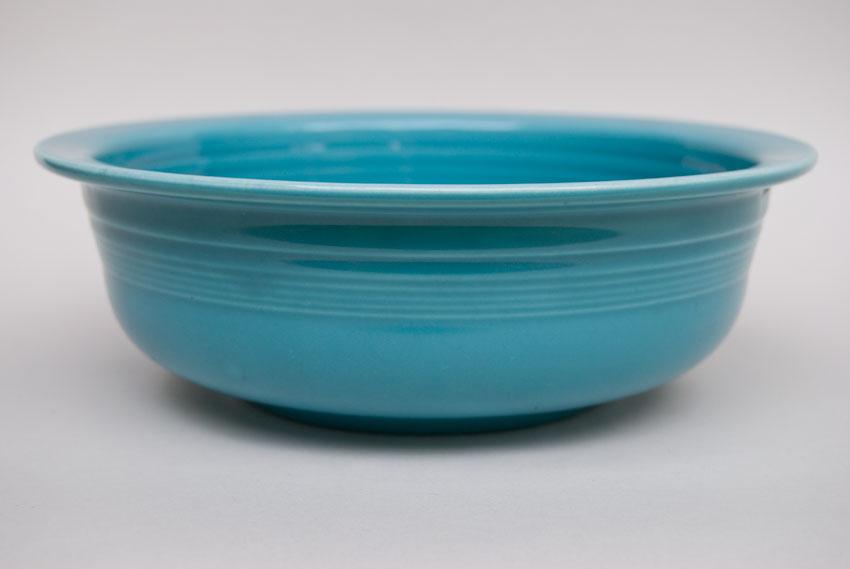 Favorite Vintage Fiesta Original Turquoise Nappy Vegetable Serving Bowl  JA79