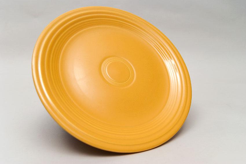 ... Vintage Fiesta Yellow 10 Inch Dinner Plate Fiestaware Pottery Vase Gift Rare Hard & Vintage Fiesta Pottery 10