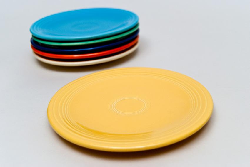 vintage fiesatware plate in original yellow - Fiesta Plates