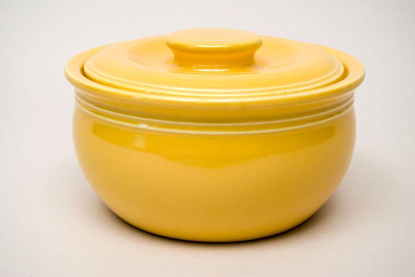 Exceptionnel Fiesta Kitchen Kraft Individual Casserole In Original Yellow Glaze For Sale