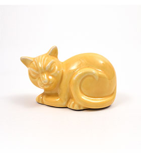 Harlequin Yellow Cat Novelty Animal Homer Laughlin Pottery for Woolworths
