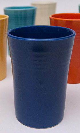 Cobalt Blue Vintage Fiesta Juice Tumbler Fiestaware Pottery For Sale