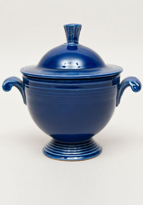 Cobalt Fiesta Sugar Bowl Fiestaware Pottery For Sale