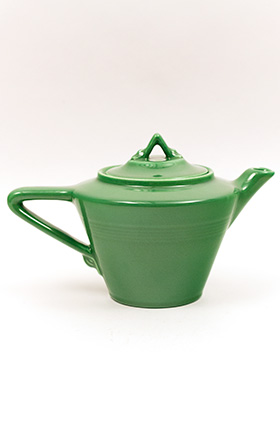 Vintage Harlequin Teapot in Medium Green Glaze
