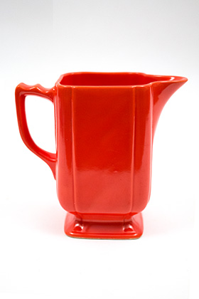 Riviera Pottery Large Batter Pitcher in Rare Red Glaze