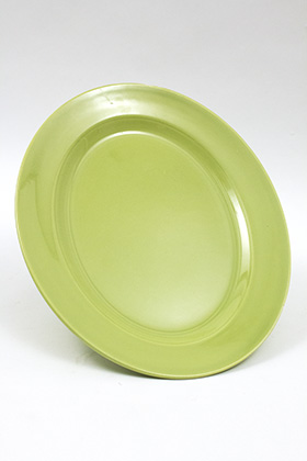 chartreuse harlequin large 13 inch platter 50s homer laughlin pottery