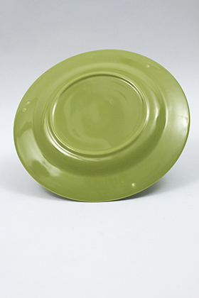 Vintage Harlequin Pottery 50s Chartreuse Dinner Plate For Sale