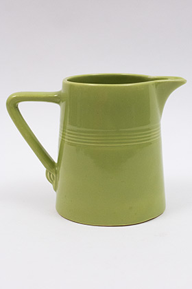 Vintage Harlequin Original 50s Chartreuse 22 ounce jug or milk pitcher: Harlequin Dinnerware 30s 40s American Solid Color Dinnerware For Sale