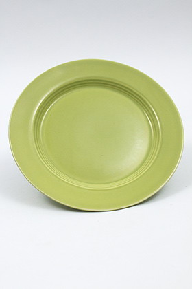 Vintage Harlequin Pottery Chartreuse Salad Plate For Sale