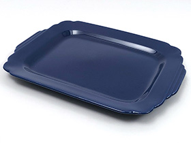 Vintage Homer Laughlin China Riviera Pottery Fiesta Cobalt Blue Batter Tray 1930s