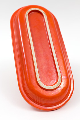 Red Vintage Fiestaware Utility Tray