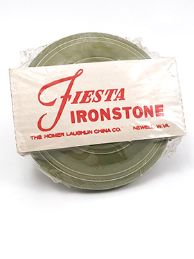 Vintage Fiesta Ironstone Turf Green Saucers in Original Packaging Circa 1969-1973