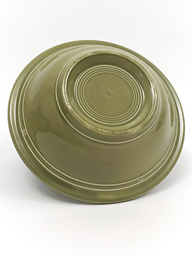 Vintage Fiesta Ironstone Soup Cereal Bowl in Turf Green Glaze for Sale Circa 1969-1973