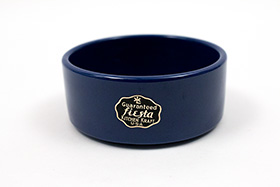 Kitchen Kraft Stacking Unit with Original Label in Cobalt Blue Glaze: Hard to Find Go-Along Fiesta Pottery For Sale