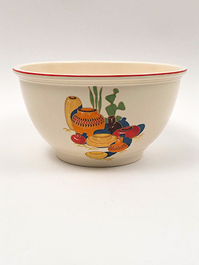 Mexicana Decalware Fiesta Homer Laughlin Kitchen Kraft Nesting Bowl