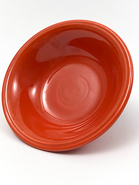 Vintage Fiesta Ironstone Soup Cereal Bowl in Mango Red Glaze for Sale Circa 1969-1973