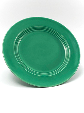 Vintage Harlequin Pottery Original Green Luncheon Plate For Sale