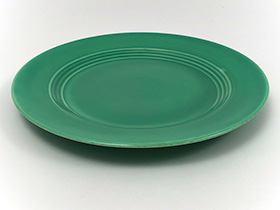 Vintage Harlequin Pottery Original Green Luncheon Plate