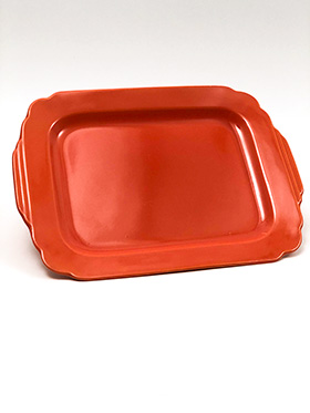 Radioactive Red Riviera Rectangular Batter Tray