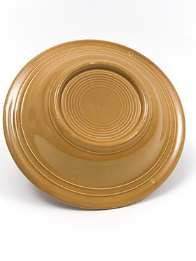 Vintage Fiesta Ironstone Deep Plate in Antique Gold Glaze for Sale Circa 1969-1973