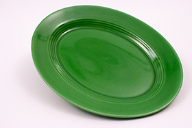 Vintage Harlequin Medium Green Platter