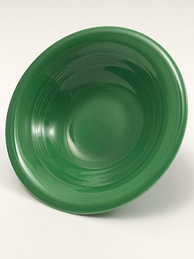 Vintage Harlequin Pottery 9 Inch Nappy Bowl in 50s Medium Green