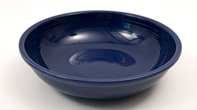 Vintage Fiesta 11 3/4 inch Fruit Bowl: Original Cobalt Blue Fiestaware For Sale Rare Gift Hard to Find 1930s 1940s