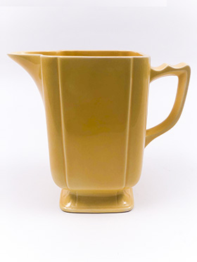Riviera Pottery Large Batter Pitcher in Harlequin Yellow Glaze
