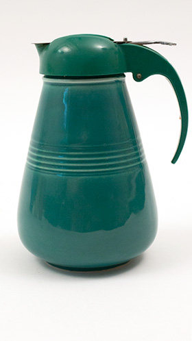 Vintage Harlequin Pottery Syrup in Spruce Green Glaze: Homer Laughlin 30s 40s Pottery