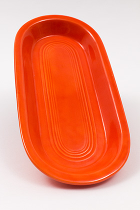 Radioactive Red Vintage Fiesta Utility Tray