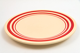 Rare Vintage Fiesta Red Stripe Bread and Butter Plate Original Fiestaware