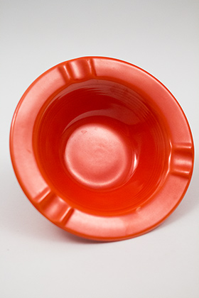 Harlequin Pottery Regular Ashtray in Radioactive Red