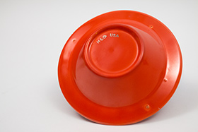 Harlequin Pottery Regular Ashtray in Original Red