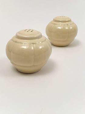 Riviera Homer Laughlin Pottery Ivory  Salt and Pepper Shakers