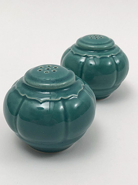 Riviera Homer Laughlin Pottery Spruce Green Salt and Pepper Shakers