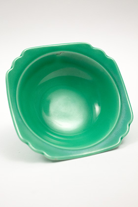 Riviera Homer Laughlin Pottery Green Oatmeal Bowl