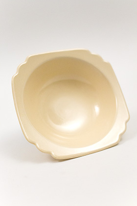 Vintage Riviera Pottery  Ivory Vellum Oatmeal Bowl