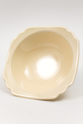 Riviera Homer Laughlin Pottery Ivory Vellum Oatmeal Bowl