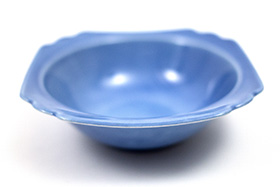 Vintage Riviera Pottery Harlequin Mauve Blue Oatmeal Bowl