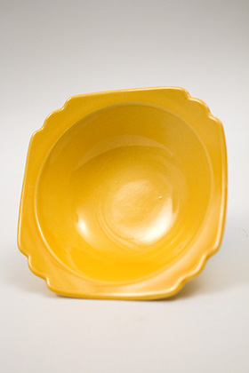 Riviera Homer Laughlin Pottery Yellow Oatmeal Bowl