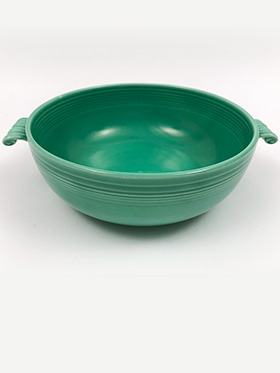 Vintage Homer Laughlin Pottery Company Tricolator Products Bowl in Original Green Glaze