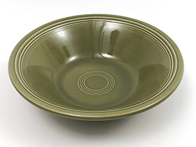 Vintage Fiesta Ironstone Vegetable Bowl in Turf Green Glaze for Sale Circa 1969-1973