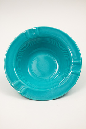 Harlequin Pottery Regular Ashtray in Turquoise