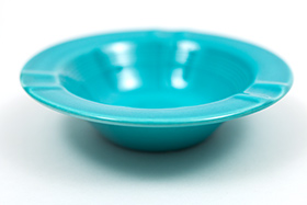Harlequin Pottery Regular Ashtray in Original Turquoise
