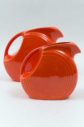 Red Vintage Fiestaware Red Juice Pitcher For Sale