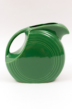 Medium Green Vintage Fiesta Disk Water Pitcher
