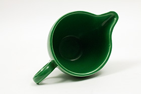 Vintage Fiesta Ring Handled Creamer in Original Medium Green
