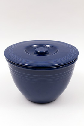 Vintage Fiesta Nesting Bowl Lid Number One in Original Cobalt Blue: Gift, Rare, Hard to Find, Buy Online Now, American Antique Pottery