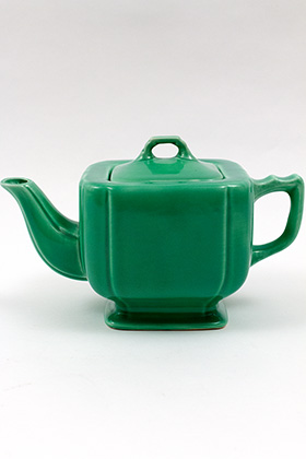 Riviera Pottery Original Green Teapot For Sale