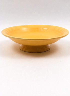 Original  Yellow Blue Fiestaware 12 Inch Footed Comport